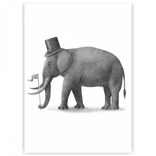 """Холст с принтом """"Слон"""" (30x40 cм)"""