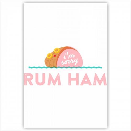 "Холст с принтом ""Rum Ham"" (20x30cм)"