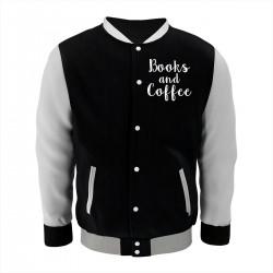 "Бомбер с принтом ""Books and Coffee"""