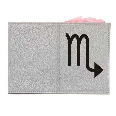 "Обложка на паспорт с принтом ""Скорпион-2"""