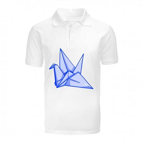 """Поло с принтом """"Оригами"""""""