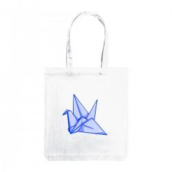 """Сумка холщевая с принтом """"Оригами"""""""