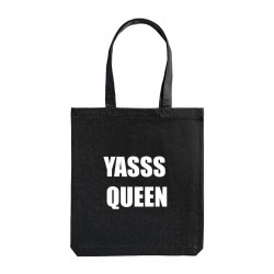 """Сумка холщовая с принтом """"Yasss Queen"""""""