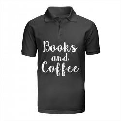 """Поло с принтом """"Books and Coffee"""""""