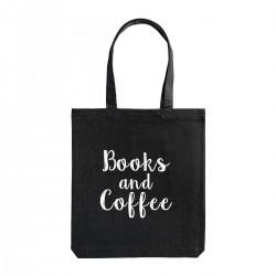 "Сумка холщовая с принтом ""Books and Coffee"""