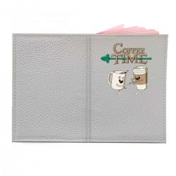 """Обложка на паспорт с принтом """"Coffee Time"""""""