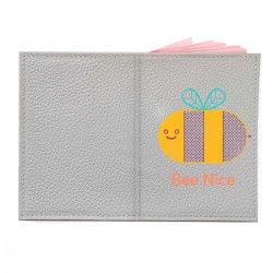 """Обложка на паспорт с принтом """"Bee Nice"""""""