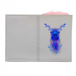 """Обложка на паспорт с принтом """"Козерог в синем"""""""