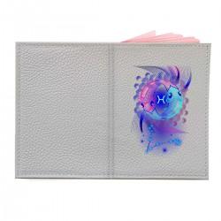 """Обложка на паспорт с принтом """"Рыбы в синем"""""""