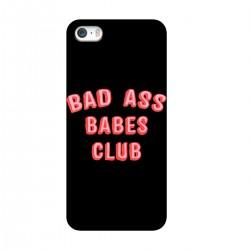 """Чехол для Apple iPhone с принтом """"Bad Ass Babes Club"""""""
