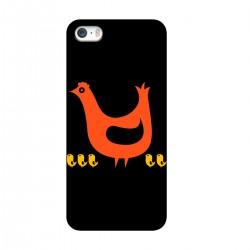 """Чехол для Apple iPhone с принтом """"Курочка с цыплятами"""""""