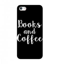"Чехол для Apple iPhone с принтом ""Books and Coffee"""