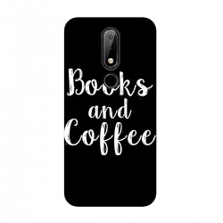 "Чехол для Nokia с принтом ""Books and Coffee"""