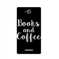 "Чехол для Sony с принтом ""Books and Coffee"""