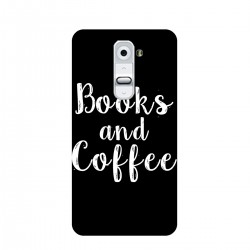"Чехол для LG с принтом ""Books and Coffee"""
