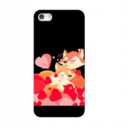 """Чехол для Apple iPhone с принтом """"Лисички"""""""
