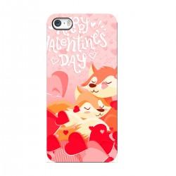 """Чехол для Apple iPhone с принтом """"Влюбленные лисички"""""""