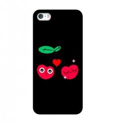 """Чехол для Apple iPhone с принтом """"Влюбленная вишня"""""""