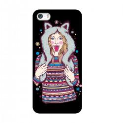 """Чехол для Apple iPhone с принтом """"Девушка в зимней шапке"""""""