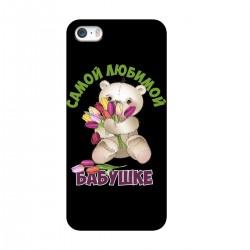 """Чехол для Apple iPhone с принтом """"Мишка с цветами"""""""