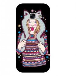 """Чехол для Samsung с принтом """"Девушка в зимней шапке"""""""