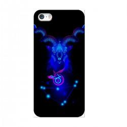 """Чехол для Apple iPhone с принтом """"Козерог синий"""""""