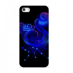 """Чехол для Apple iPhone с принтом """"Водолей синий"""""""
