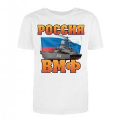"""Футболка с принтом """"ВМФ России"""""""