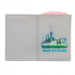"""Обложка на паспорт с принтом """"Крейсер Аврора"""""""