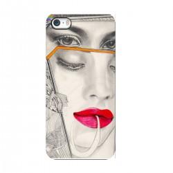 """Чехол для Apple iPhone с принтом """"Девушка маска"""""""