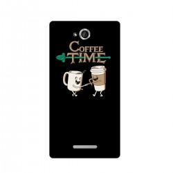 """Чехол для Sony с принтом """"Coffee Time"""""""