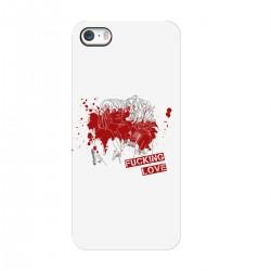 "Чехол для Apple iPhone с принтом ""Fucking love-3"""