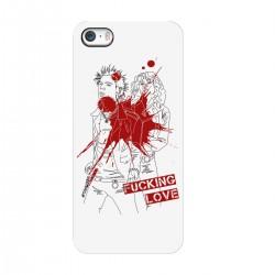 "Чехол для Apple iPhone с принтом ""Fucking love-2"""
