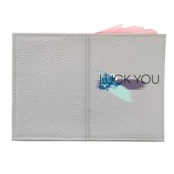 "Обложка на паспорт с принтом ""Luck you-2"""
