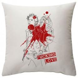 """Подушка с принтом """"Fucking love-2"""""""