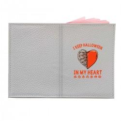 "Обложка на паспорт с принтом ""Сердце Хэллоуина"""