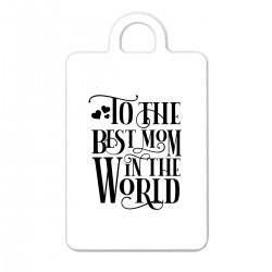 """Брелок с принтом """"Best mom"""""""