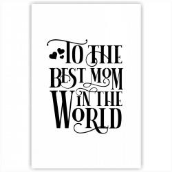 "Холст с принтом ""Best mom"" (20x30cм)"