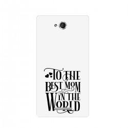 """Чехол для Sony с принтом """"Best mom"""""""