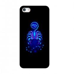 "Чехол для Apple iPhone с принтом ""Скорпион синий"""