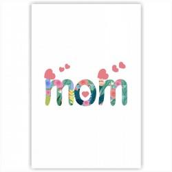 """Холст с принтом """"Mom"""" (20x30cм)"""