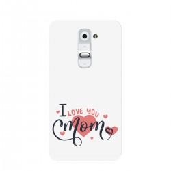 """Чехол для LG с принтом """"I love you mom"""""""