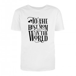 """Футболка с принтом """"Best mom"""""""