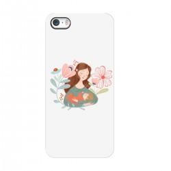 """Чехол для Apple iPhone с принтом """"Мама и малыш"""""""