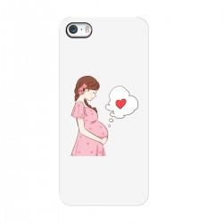 """Чехол для Apple iPhone с принтом """"Беременность"""""""