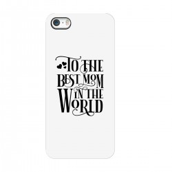 "Чехол для Apple iPhone с принтом ""Best mom"""
