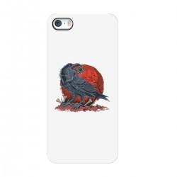 """Чехол для Apple iPhone с принтом """"Ворон и луна"""""""