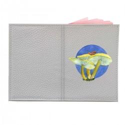 """Обложка на паспорт с принтом """"Три грибочка"""""""