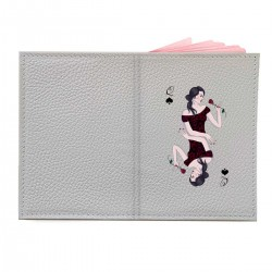 """Обложка на паспорт с принтом """"Пиковая дама"""""""