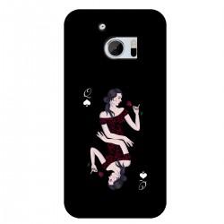 """Чехол для HTC с принтом """"Дама пик"""""""